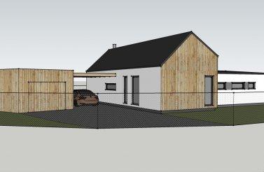 Dřevěná odvětrávaná fasáda pro moderní bungalov